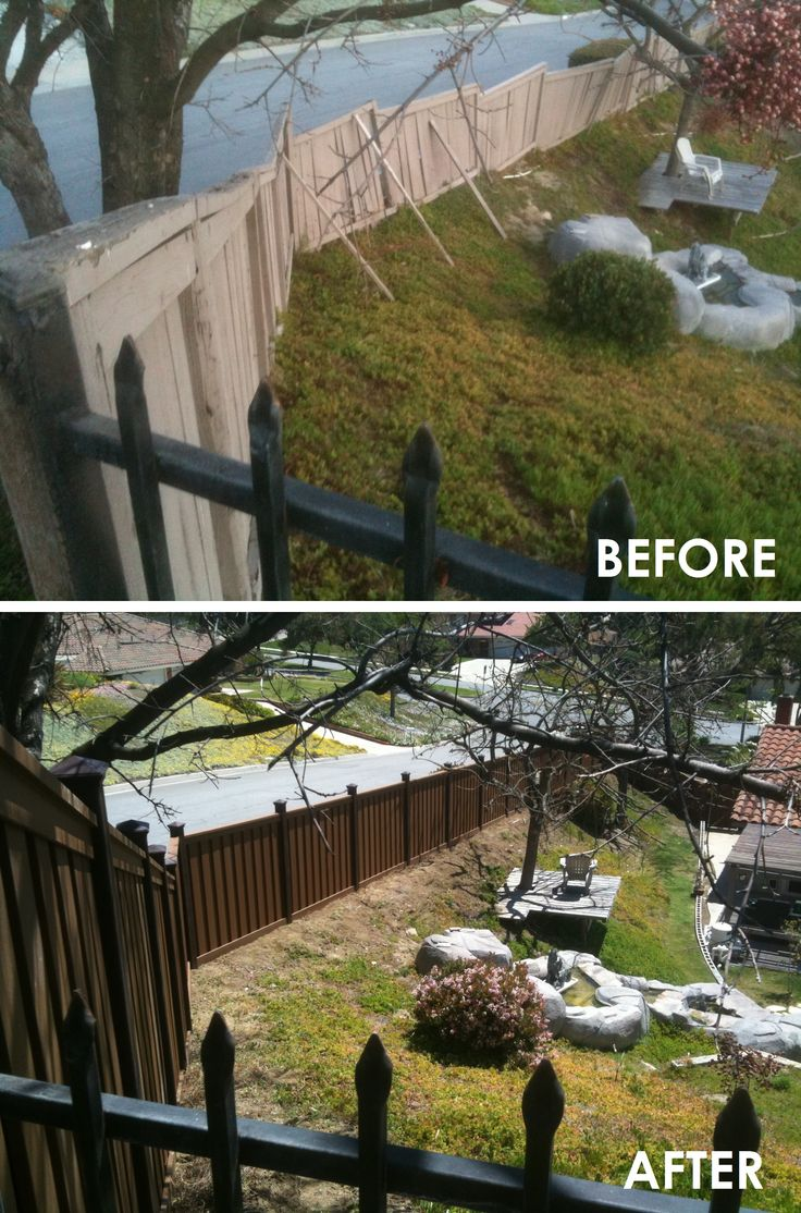 23 best fence before after trex images on pinterest fencing before after fence installation in chino hills ca trex fencing the composite alternative to wood vinyl baanklon Choice Image