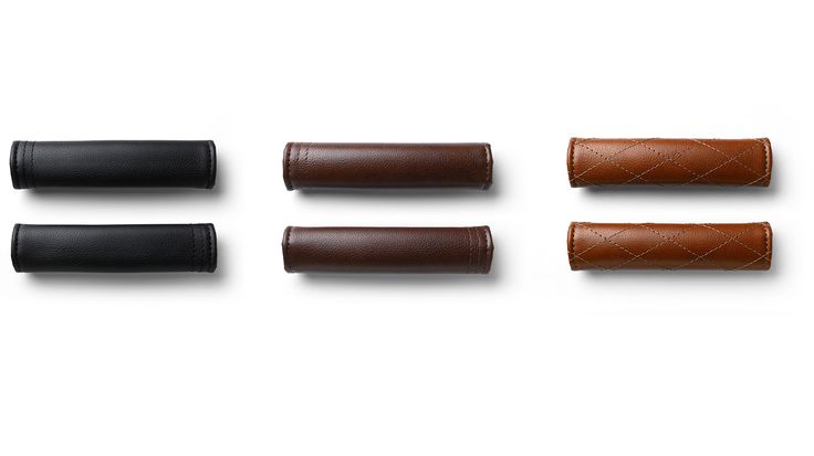 Changeable faux leather grips give you even more ways to mix and match your colors in Black, Cognac or Brown