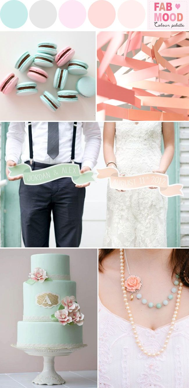 Mint Blush Pink Wedding Colours Palette | http://www.fabmood.com/mint-blush-pink-wedding/