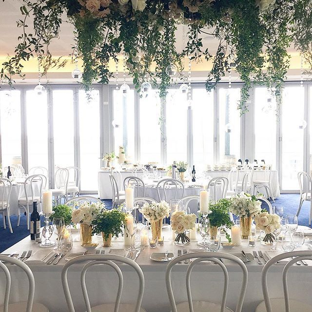 Such a romantic white wedding at @rfbyc yesterday. The mother of the bride surprised the newly-weds with this hanging floral arrangement by @poppysflowers ... The roses were divine! . . . . #eventartillery #perthwedding #wawedding #romanticwedding #perthbride #perthweddingstylist #perthflorist #perthweddingflorist #poppysflowers #rfbyc #royalfreshwaterbayyachtclub #perthbride #whitewedding #hangingflorals #bentwoodchairs #roses