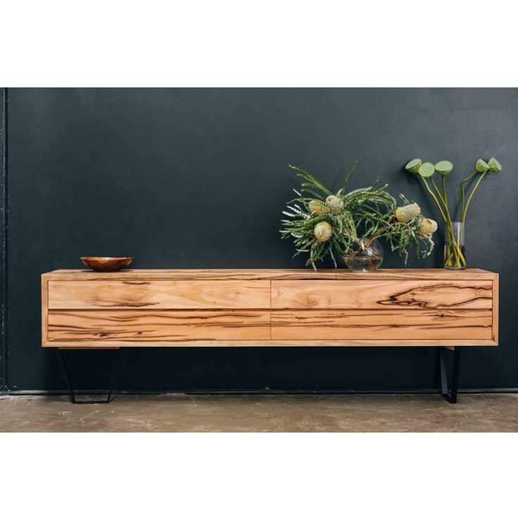 This ​Solid Timber Credenza/Sideboard with high featured timbers will make an impact in any room.