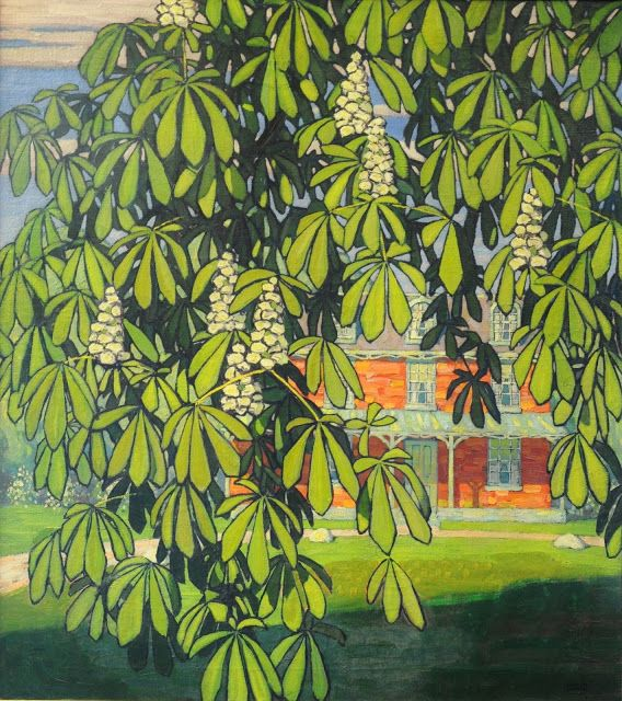 Lawren Harris (1885-1970), Chestnut Tree, House, Barrie, Ontario - 1916/17
