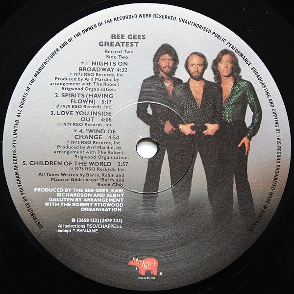 Language In 45 And 47 Stella Street: Bee Gees - Greatest (Vinyl, LP) At Discogs