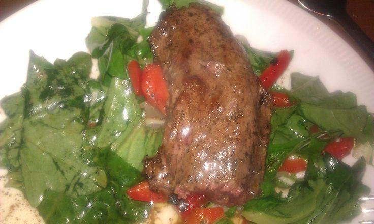 Hazenrug met warme salade Paleo