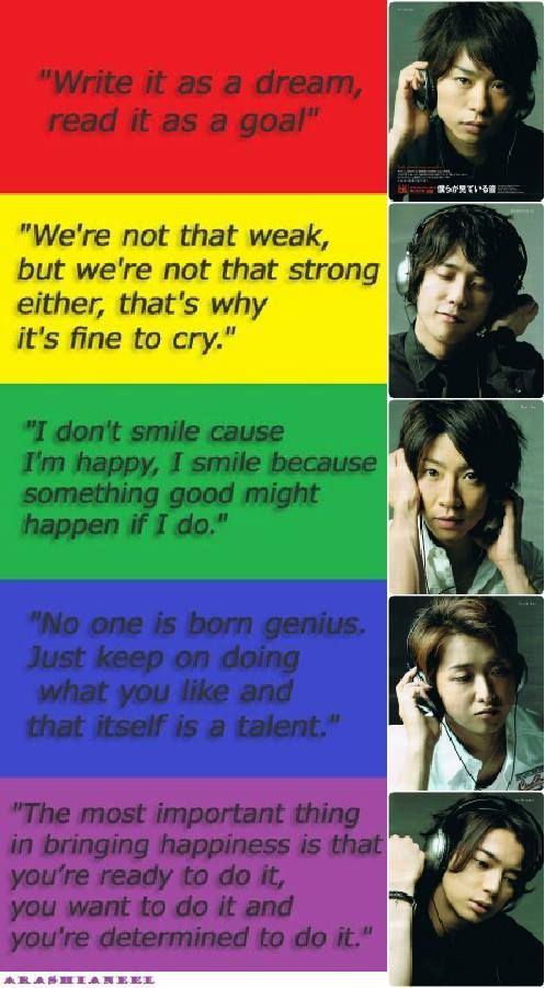 The thoughts of Arashi.