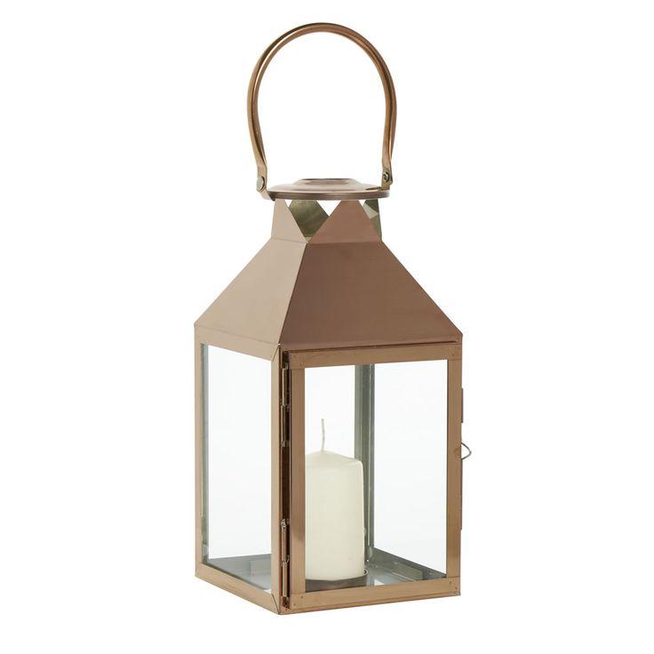 Wilko Copper Lantern Medium