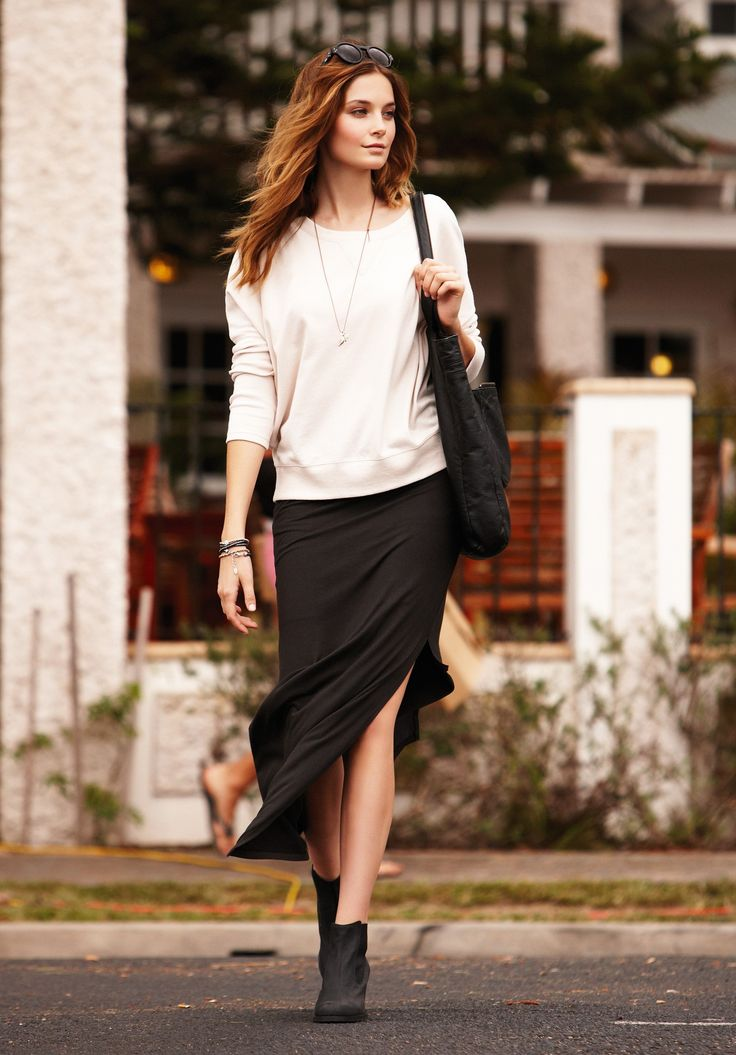 Shadow Maxi Tube Skirt   Dresses & Skirts   hush