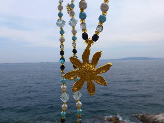 Helios necklace by ellinida on Etsy, $38.00
