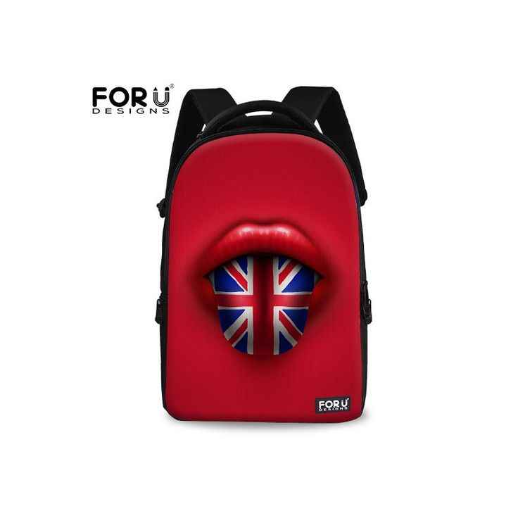 UK Flag International Print Laptop Backpack , Factory Price, Worldwide Free Shipping!
