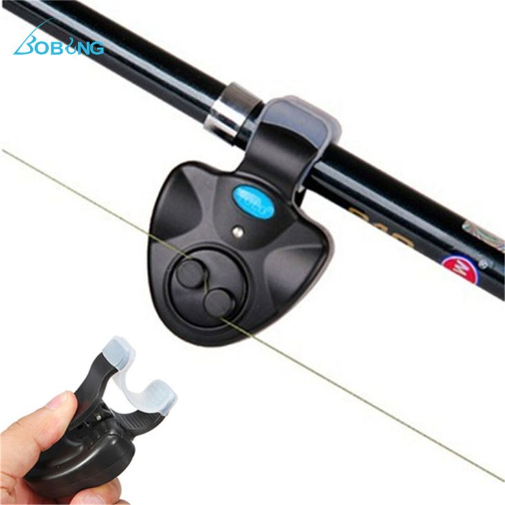 Electronic LED Light Fish Bite Sound Alarm Bell On Fishing Rod.