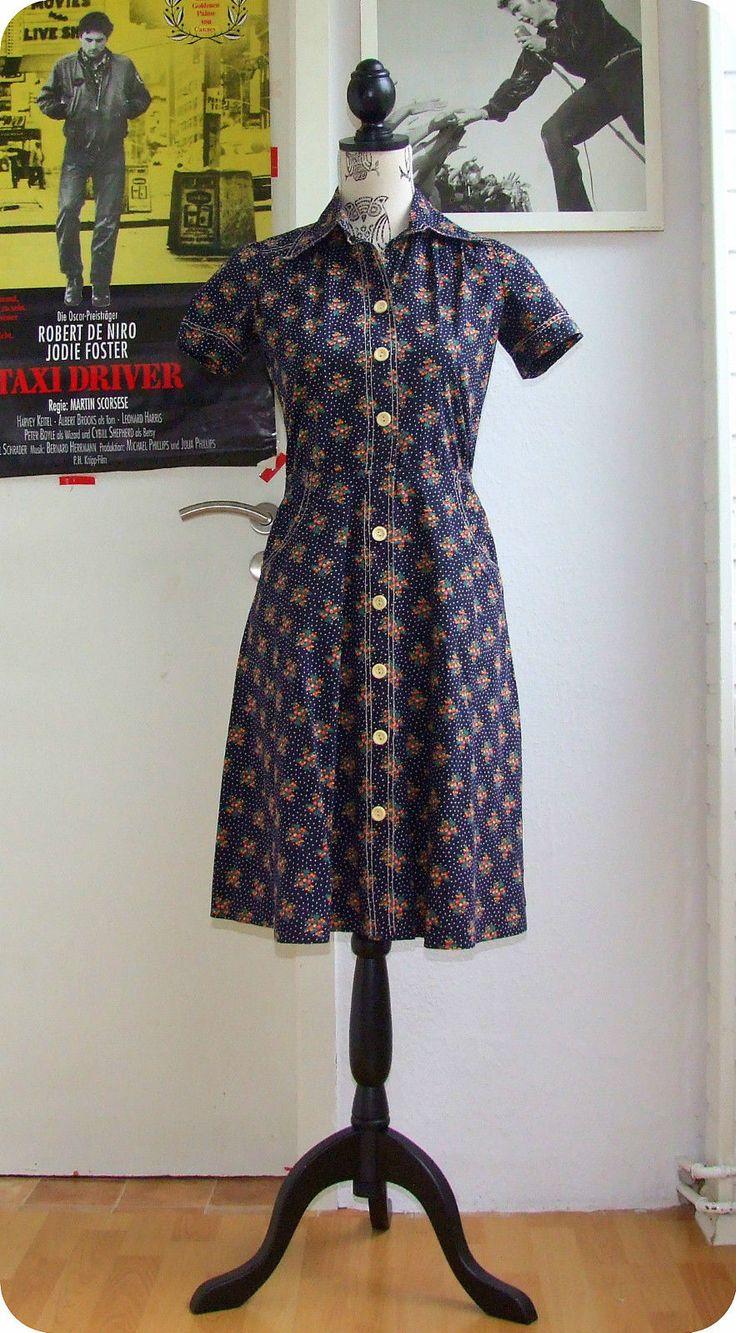 Vintage 70er Hemd Kleid Blumen Mod S Uniform Dress Robe Boho 70s Etui Taschen | Kleidung & Accessoires, Vintage-Mode, Vintage-Mode für Damen | eBay!