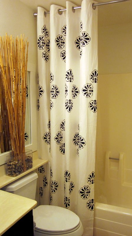 Stencil or Stamp a Shower Curtain