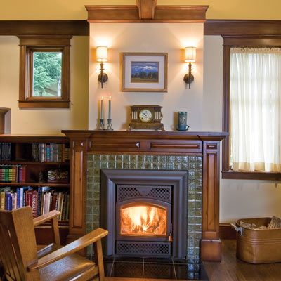 After 23 moves a couple finds their forever home for Craftsman fireplaces photos
