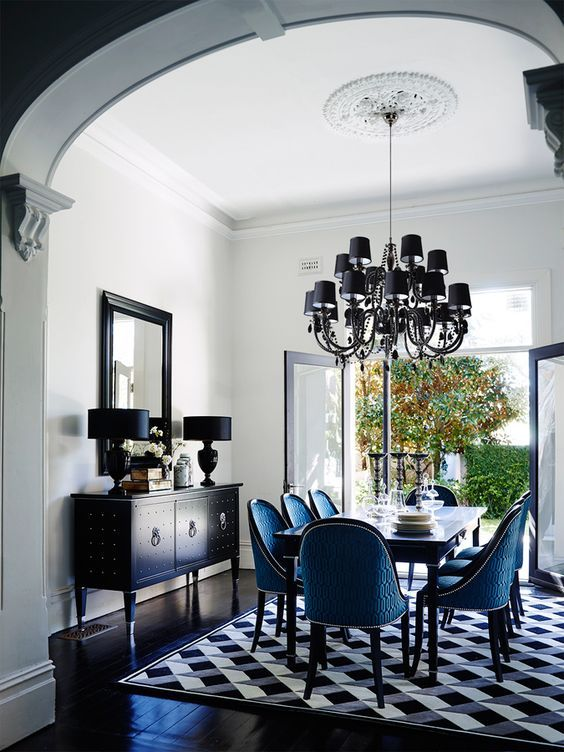 Inside Design Greg Natale For Grange Furniture Blue Dining RoomsBlue