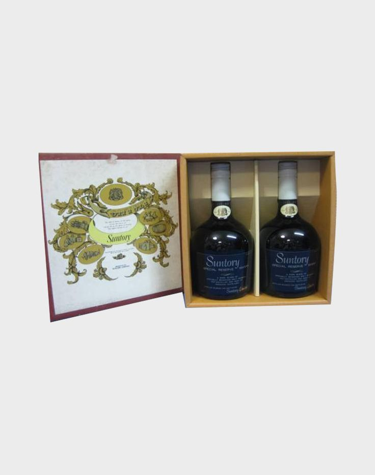 This wonderful set contains two bottles of Suntory Special Reserve Whisky with box. The bottles were made from specially blended whiskies from Suntory-owned distilleries. Think Hibiki, Yamazaki, and Hakushu, and the decision on whether to buy this awesome set or not will make itself!