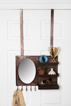 Over-the-Door Vanity Station, Zinc - contemporary - bathroom storage - Urban Outfitters