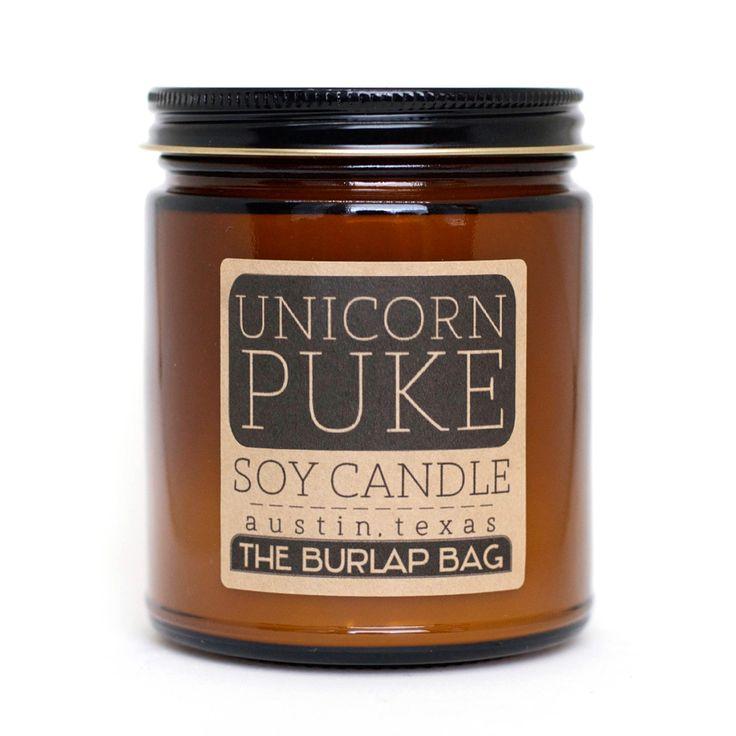 Image of unicorn puke soy candle - 9oz I prolly need this.