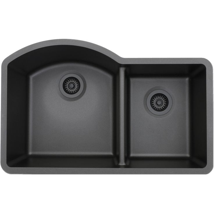 The Lexicon Platinum LP-7030 offset double bowl has an extra deep 9 inch large bowl and stylish bottom grids. The versatile dual-mount rim allows for both undermount and drop-in installations.