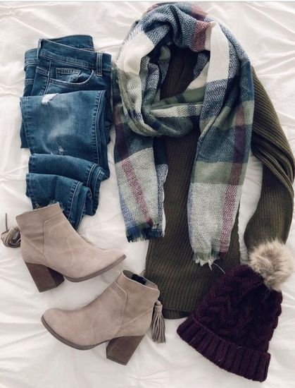 I love everything from the ankle booties to the plaid scarf and everything in between! #shopthelook #MyShopStyle #OOTD #fallstyle