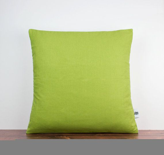 green cushion green pillow lime green pillow green throw pillow decorative cushion case linen pillow cover linen home decor
