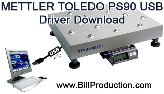 Scale Mettler Toledo USB PS90 Driver download