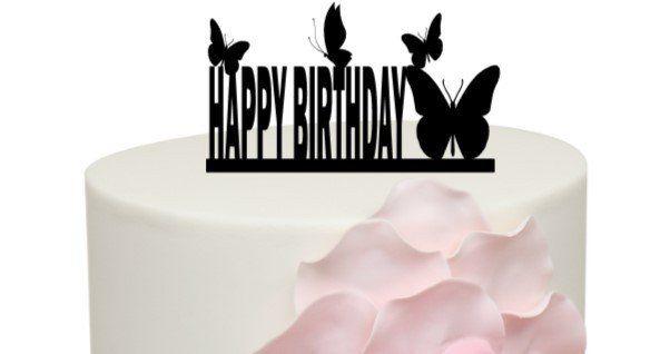 Butterfly Birthday Cake Topper