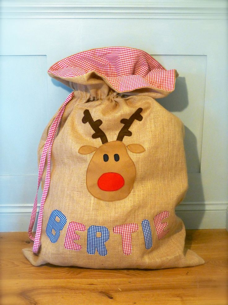 How to make Christmas sacks - a tutorial