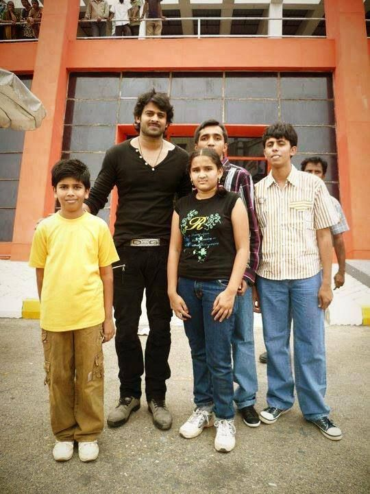 Prabhas On the sets of #Rebel movie with fans #Baahubali