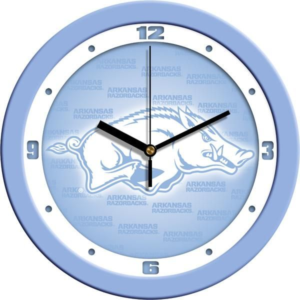 New - Arkansas Razorbacks-Baby Blue Wall Clock