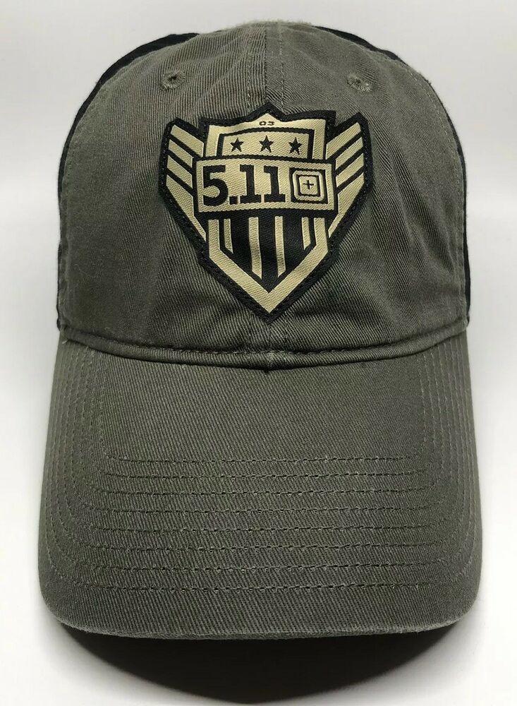 61052d7086647 5.11 Tactical Cap Hat Adult Adjustable 2017 Black Green 100% Cotton