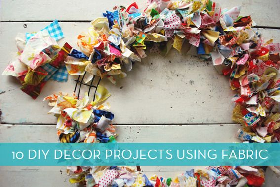 Roundup: 10 Fabric Decor Projects (That Don't Require A Sewing Machine) » Curbly | DIY Design Community