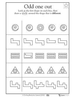 Which crazy shape is different? - Worksheets & Activities | GreatSchools