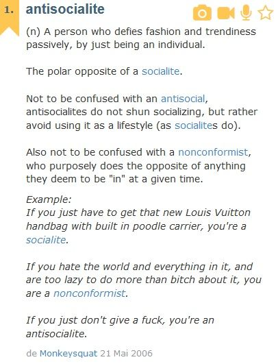 Richard declares himself as anti-socialite -  love the last  lines :) http://ro.urbandictionary.com/define.php?term=antisocialite