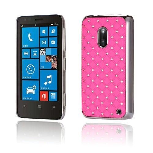 Stars (Pinkki) Nokia Lumia 620 Suojakuori - http://lux-case.fi/stars-pinkki-nokia-lumia-620-suojakuori.html