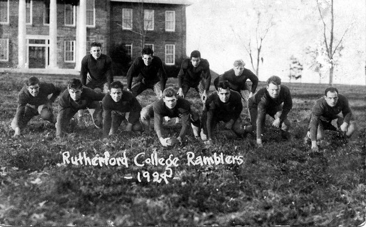The Rutherford College Ramblers – 1929 Football Team. In 1928, the team lost the State Junior College Championship by only one touchdown. The 1929 schedule was more difficult than the previous year, but the season was considered successful. In 1930, the Ramblers were the North Carolina State Football Champions.  The History Museum of Burke County (Courtesy of Geneva Reinhardt) provided this image to Picture Burke, a digital photograph preservation project of the Burke County Public Library.