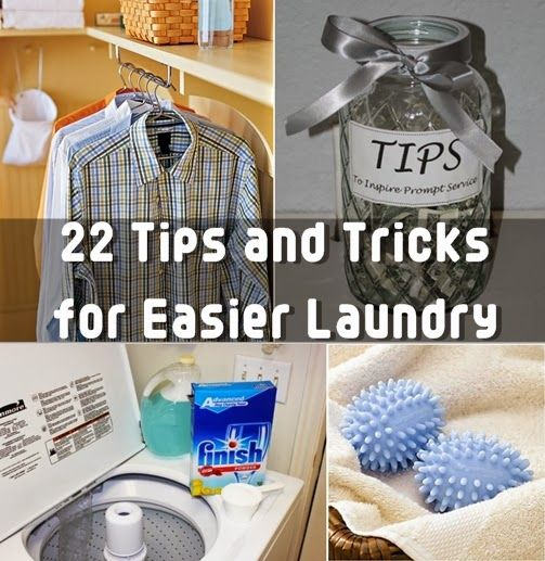 22 Tips to Do Laundry More Efficiently