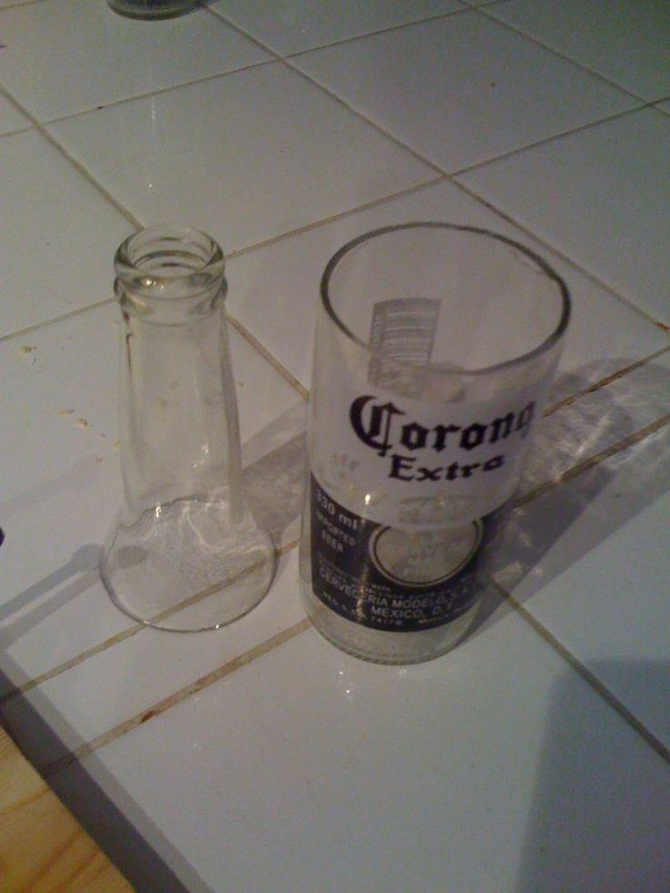 Making corona drinking glasses out of bottles bottle for Glasses made out of bottles
