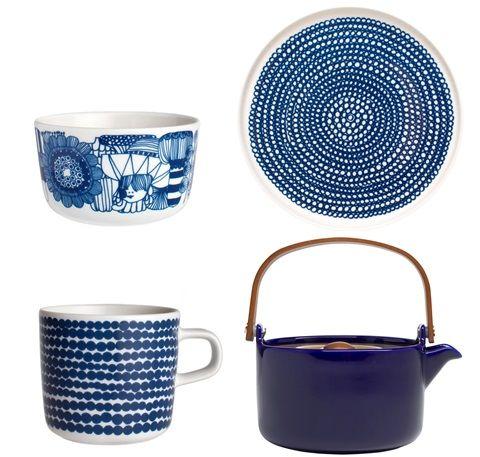 Marimekko navy tableware