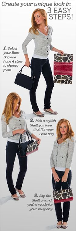 Miche is all about accessibility, interchangeability, and self expression. Easily change the look of your favorite bag while keeping your contents inside! PLEASE like my page: www.facebook.com/LuciesFashion https://www.homepartyrep.com/lucie_levasseur