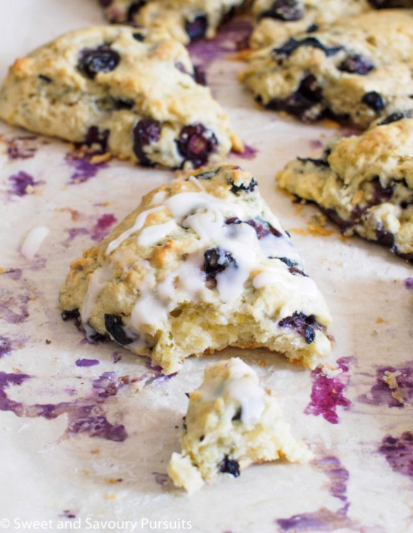 Blueberry and Lemon Scones | From Sweet and Savoury Pursuits