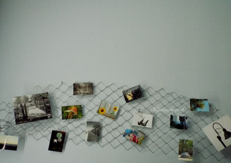 Had some leftover fence material, so hung it on the wall to display photos I've taken.