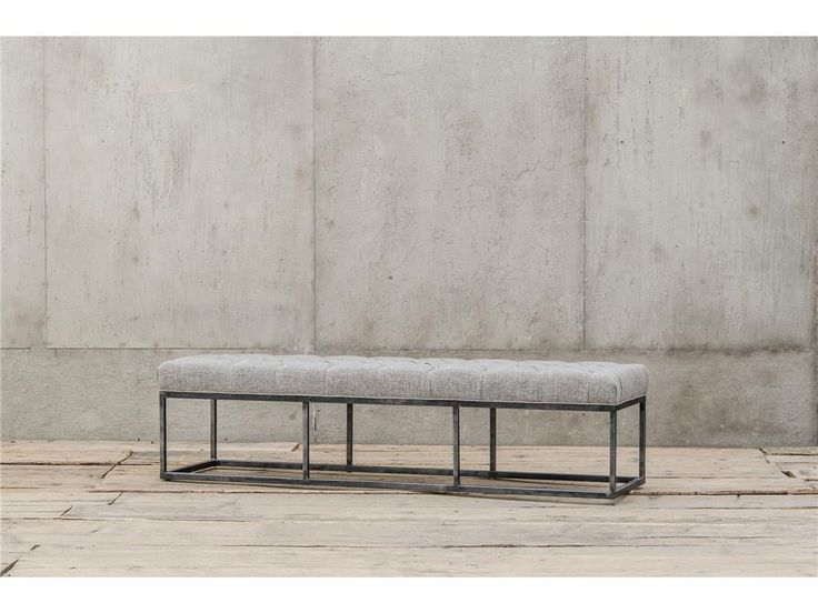 Bordeaux Industrial Metal Upholstered Dining Bench Sale At Zin Home These And Linen Benches Feature Gun Finished Iron Frame