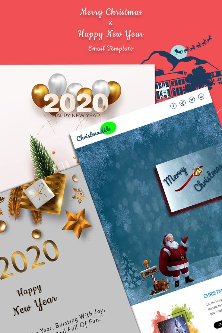 Christmas & New years Newsletter Template 91808