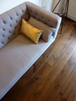 Double smoked oak flooring, dark oak flooring in Living room   Fine Oak Flooring
