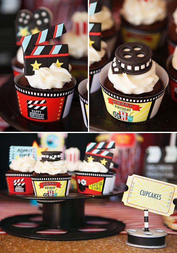 Inspiração: Festa de Aniversário de Cinema (para meninos e meninas)! | Beleza de Mãe