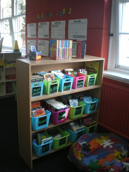 Half the classroom library