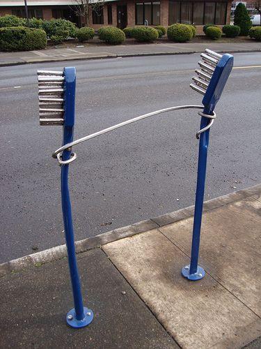 Bike Rack Outside Dental Surgery, Portland! (Via Rozanne on Flickr).