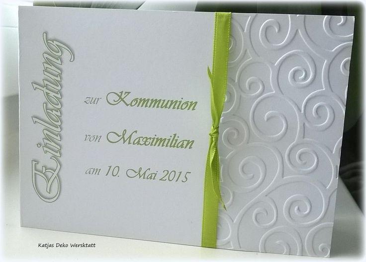 Einladungskarte Kommunion Konfirmation Taufe Firmung Jugendweihe Danksagung  EQ1