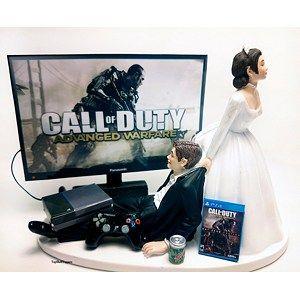 Funny Wedding Cake Topper Custom Sky Video Gamer Xbox One/PS4 | TopshelfToppers - Wedding on ArtFire
