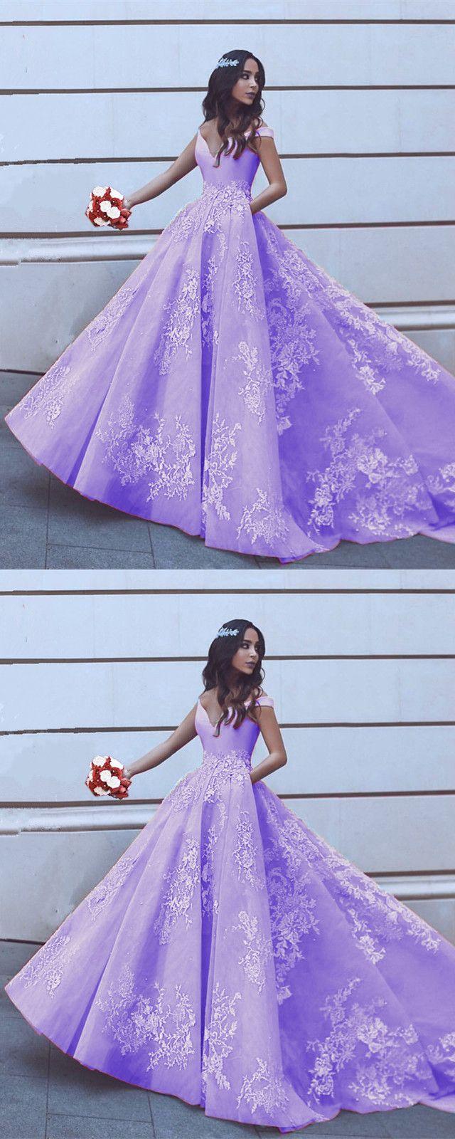 Elegant V-neck Off Shoulder Prom Dresses Ball Gowns